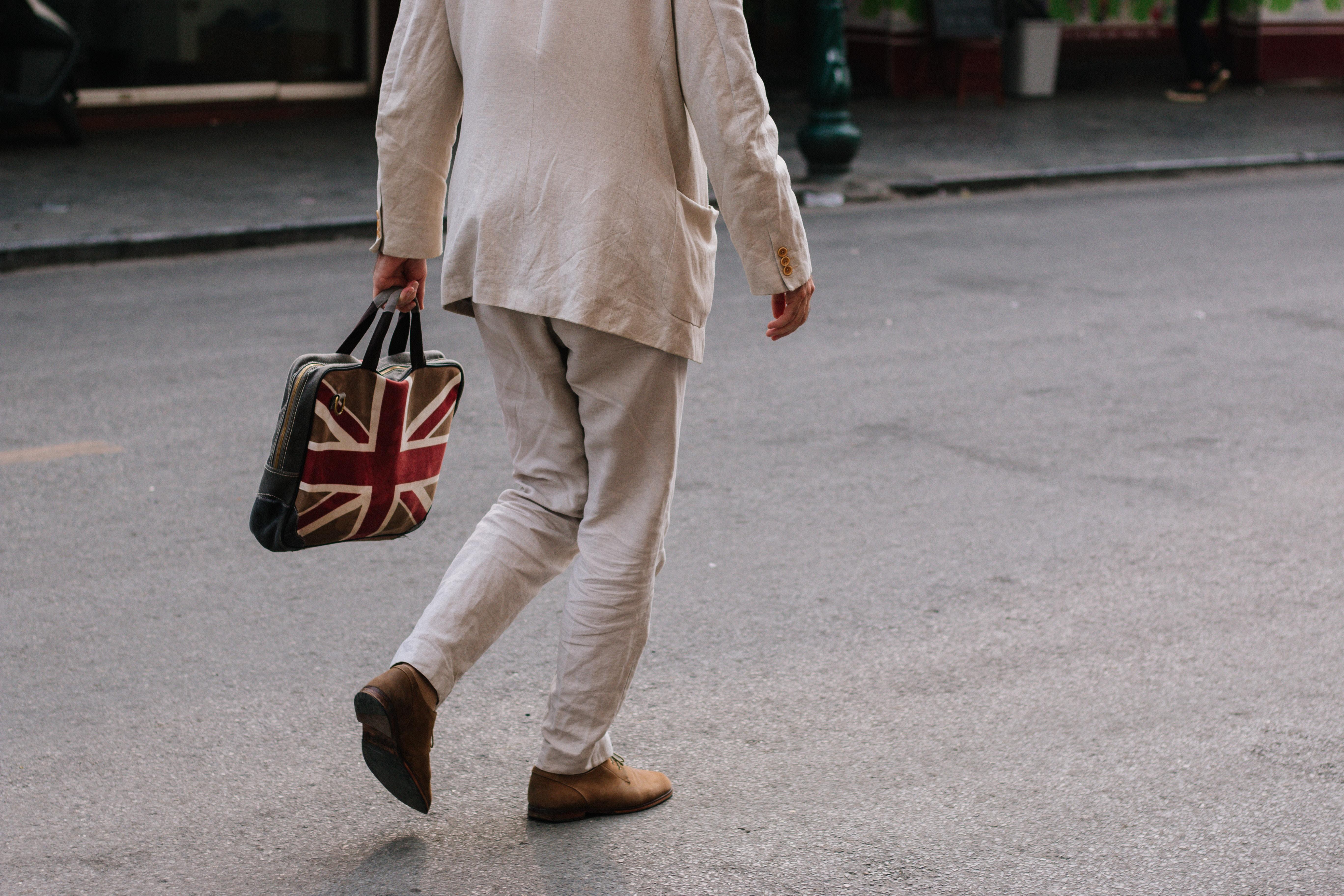 Man with English flag